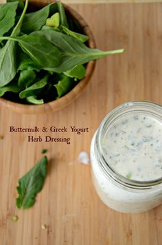 Buttermilk & Greek Yogurt Herb Dressing is low-fat but still full of so much flavor.  www.mountainmamacooks.com