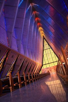 Cadet Chapel at the United States Air Force Academy in Colorado Springs, USA