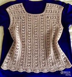 Crochet Knitting Handicraft: Vest, or crochet shirt top