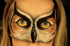 If horse face is not your cup of tea, you can always be a lovely owl. Makeup by Psychosandra, click to see more.