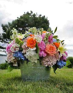 fresh look for an outdoor wedding