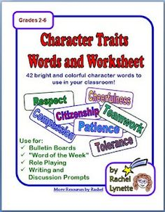 Classroom Freebies: Character Trait Strips
