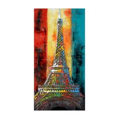 Eiffel Tower made by Deco Domani hand paint, wall art, eiffel tower, color hand, color wall, abstract artwork, pari, colors, art deco