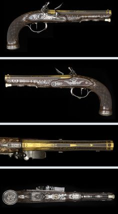 Late 18th century flintlock pistol crafted by Peniet of Paris.
