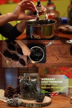Weekday Crafternoon: How to Make Pinecone Fire Starters (http://blog.hgtv.com/design/2013/01/15/weekday-crafternoon-how-to-make-pinecone-fire-starters/?soc=pinterest)