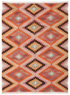 VINTAGE ANTALYA KILIM 285×160cm // kilm rug, area rug, diamond pattern rug, flat rug, vintage rug