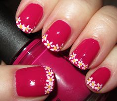 French tip flowers--- toes for spring!