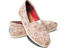 Natural Embroidered Hearts Women's Classics hero