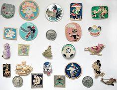 Set of 25 Soviet Vintage Badges / Pins - Kids Children Cartoon Characters - from Russia / USSR / Soviet Union. $29.00, via Etsy.