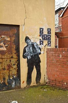 Squeezebox graffiti #accordion #graffiti #music
