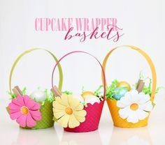 Cupcake Wrapper Easter Baskets :: DIY Tutorial cupcake wrappers, cupcak wrapper, wrapper basket, easter basket