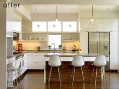 What a beautiful transformation // Kitchen remodel #white #modern