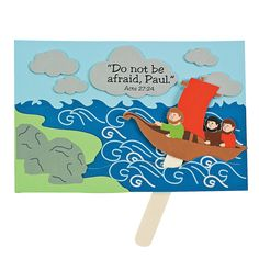 Paul Trusts God Sign Craft Kit - OrientalTrading.com