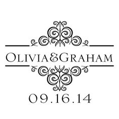 Personalized wedding stamp at www.wellofwords.com $36