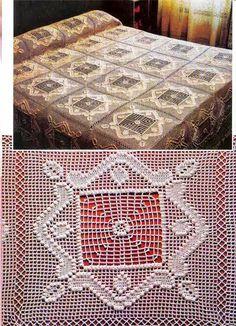 Ivelise Hand Made: De la Place d'Crochet Avec couette merveilleux beauti crochet, crochet inspiracion, bed sets, crochet afghans, crochet motiv, bed room, crochet blanket, crochet manta, crochet bedspread