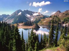 Olympic Mountains, Washington State.