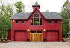 pole barn houses, garage doors, dream barn, floor plans, barn living, pole barns, red barns, barn homes, carriage house