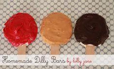 Homemade Dilly Bars! Perfect Summer treat! @Lolly Jane #dessert #recipe #summer