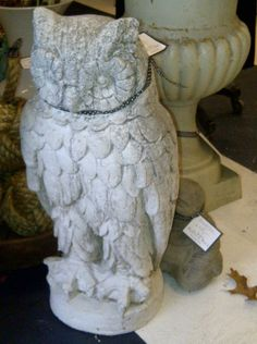 Great White Owl Vintage Statue Shabby Chic by UpperCrustHome, $250.00