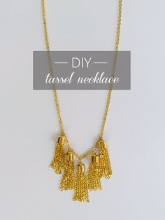 #DIY Tassel Necklace #Tutorial. #jewelry #diy_jewelry