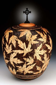 This design would look amazing on a gourd - Cremation urn by Andi Wolfe