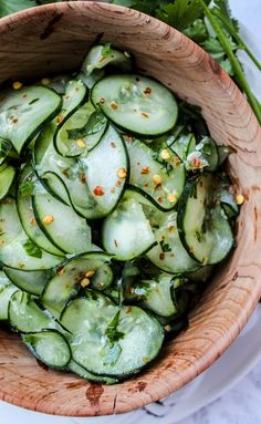 Cilantro-Lime Cucumber Salad... Light, healthy and refreshing with a little kick.