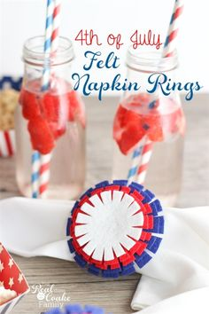 Easy to Make 4th of July Felt Napkin Rings - by Real Coake Submitted to Inspiration DIY