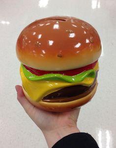 Hamburger piggy bank