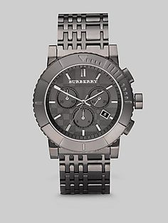 Burberry Stainless Steel Chronograph Watch.  The hubs would LOVE this! :)