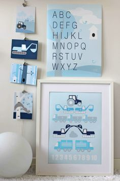 Perfect wall art for a modern nursery. #modern #baby #nursery