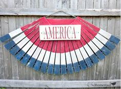 homeroad: Wooden American Flag Bunting