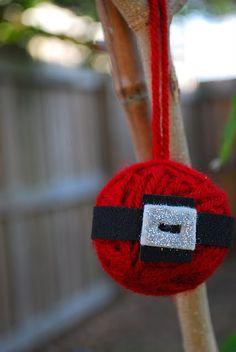 Santa's Belly Yarn Ornament
