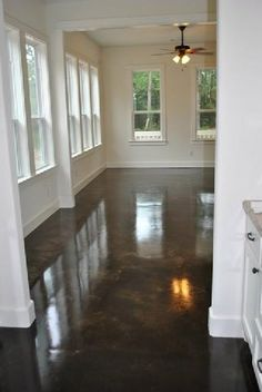 Stained Concrete for Flooring--