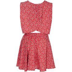 Miso Bird Print Dress ($30) ❤ liked on Polyvore