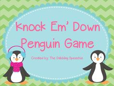 Speechie Freebies: Knock Em' Down Penguin FREEBIE Game For Therapy