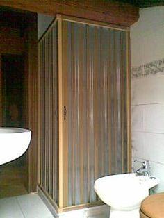 Box doccia color legno
