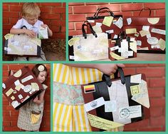 favor bags - around the world party