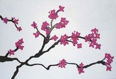 watercolor cherry blossom tattoos | japanese cherry tree drawing. Japanese Cherry Blossom Tattoo