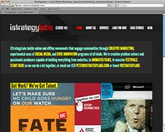 http://www.istrategylabs.com/ builds online and offline movements that engage communities through CREATIVE MARKETING, experimental uses of SOCIAL MEDIA, and CIVIC INNOVATION programs of all kinds. We're creative problem solvers and passionate producers capable of building everything from websites, to ANIMATED FILMS, to MASSIVE FESTIVALS.