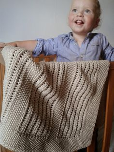 Moss and Lace Rib Baby Blanket