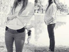 stretchy pocket maternity pants {tutorial}