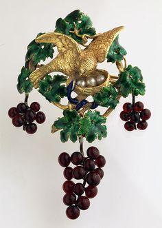 JULES WIESE 1818-1890 Bird & Serpent Brooch ~ Jules Wiese 1818-1890