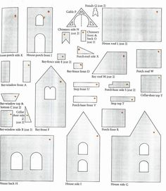 A+ Gingerbread House Paper Patterns for Children | Paper