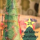 Christmas Tree GeoBoard and 24 more Fine Motor Christmas Tree Activities {Fine Motor Friday}