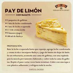 Pay de limon con Baileys