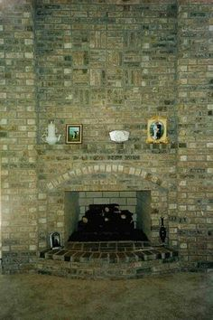brick fireplace facade