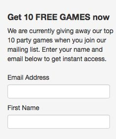 Come over to Best Party Games and sign up for our weekly newsletter. We'll give you a free games guide.