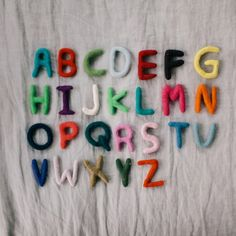 How to make felt letters DIY