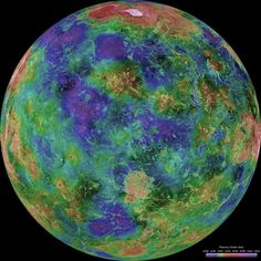 Venus, from the cloud covered mystery of my youth to this color enhanced image