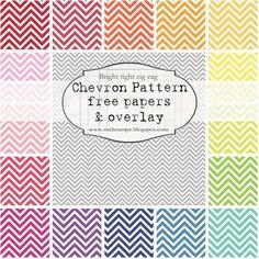 FREE chevron pattern printables.
